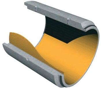 """Tubi """"CPC"""" per microtunneling rivestiti con liner in PEAD"""