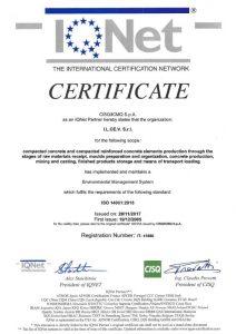 IQNET UNI EN ISO 14001:2015